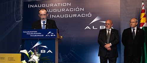 Ramon Pascual during ALBA's inauguration