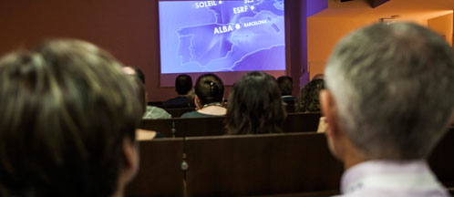 Image from the Visits program organized by ALBA.